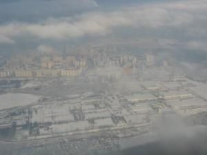 Вид на Солнцево из самолёта