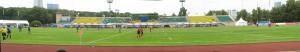 Панорама стадиона во время перерыва. ВВА-Подмосковье - Университет Оболонь