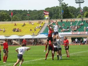 Латвийский Miesnieki и французский Agen бились за мяч на всех этажах.