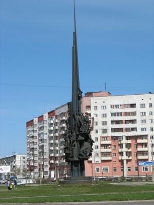 Памятник корабелам в Северодвинске. Монумент запоминающийся.