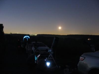 Яркая штука на небе - это Луна