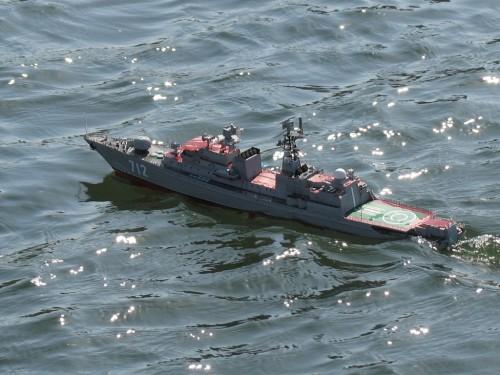 Детально проработанная модель большого противолодочного корабля