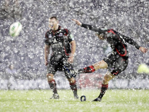 Кубок Хайнекен под снегом