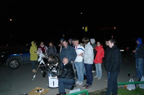 Тротуарная астрономия в Переделкино
