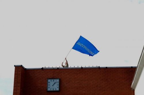 Астрофест 2010 Поднятие флага
