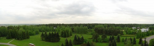 Астрофест-2010 панорама с балкона нашего номера