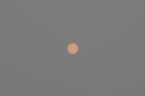 Солнце сквозь дым