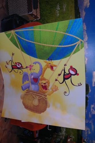 Веселые звери на воздушном шаре