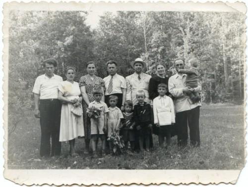 Посёлок Бучалки. Семейная фотография 1956 год
