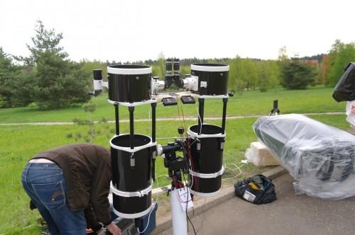АстроФест 2011 Бинокулярный телескоп из двух 10-дюймовых ньютонов с электроприводами и наворотами