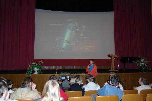 АстроФест 2011 Олег Monstr рассказывает о строительстве астробудки в подмосковье с удалённым управлением.