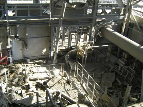 Фото разрушенного ГПА-16М-07 №3 на КС Байдарацкая