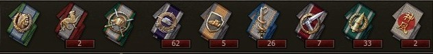 World of Tanks Special Achievement and honorary titles