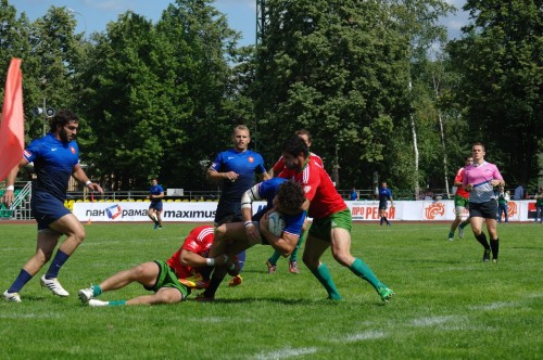 GPS RUGBY SEVENS 2012 MOSCOW Portugal - France