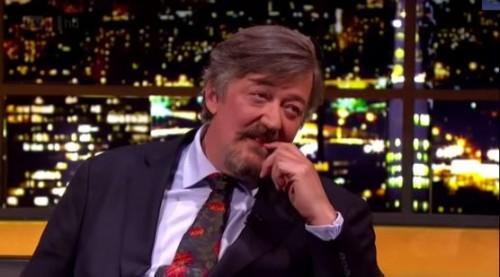 Stephen Fry with beard