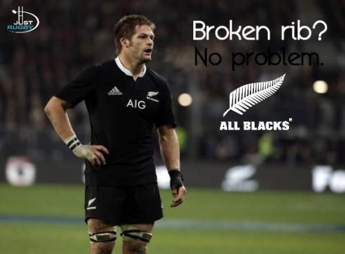 Richie McCaw broken rib
